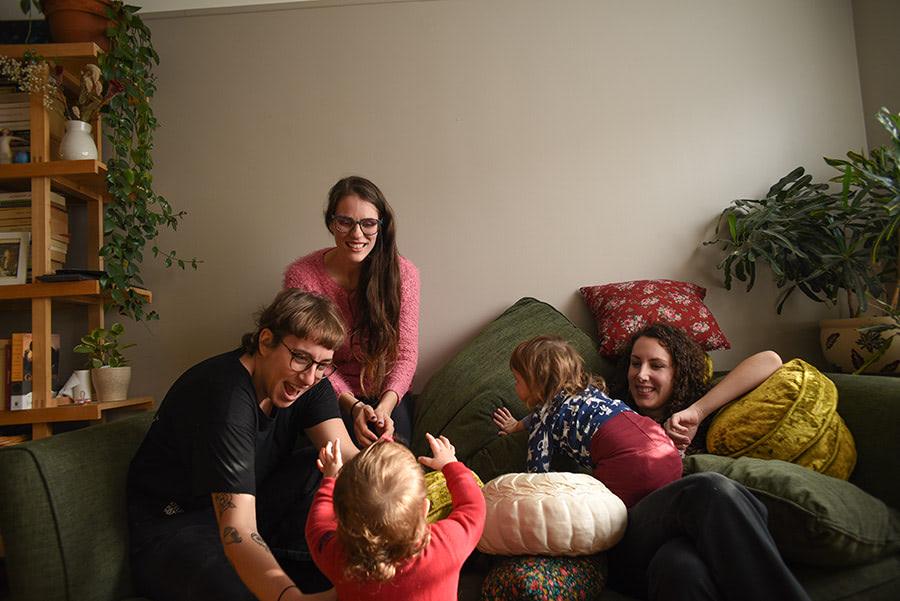 Casting du podcast toutEs ou pantoute avec les enfants de Laurie
